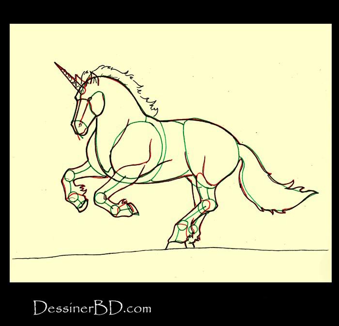 comment dessiner details licorne