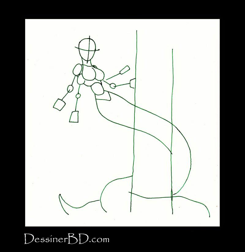 apprendre à dessiner formes naga
