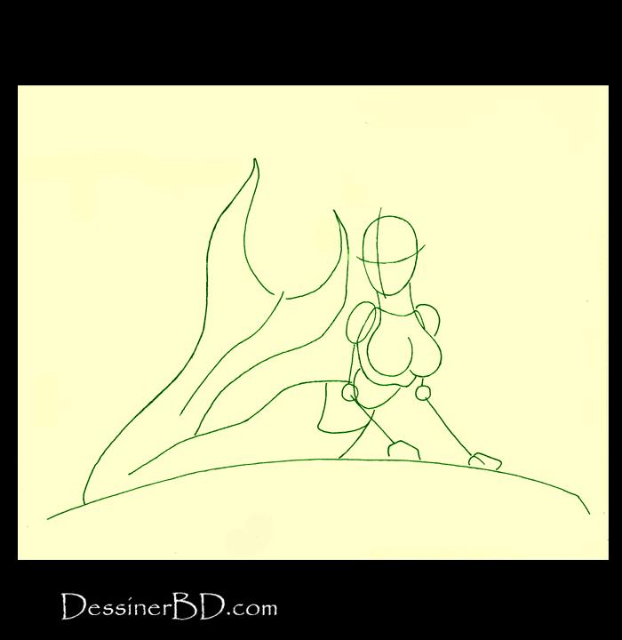 comment dessiner formes sirène sur rocher